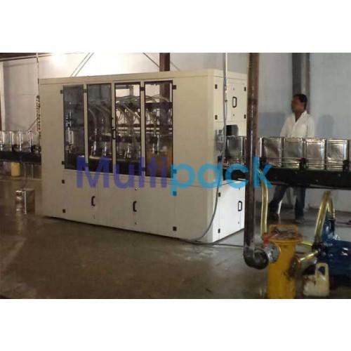 15Kg Oil Tin Filling Machine , 15 / 20 Ltr oil filling machine