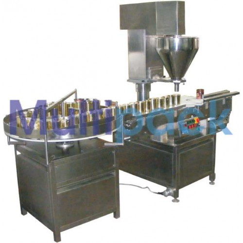 Automatic Injectable Dry Powder Filling With Rubber Stoppering Machine SBPF-240 GMP Model
