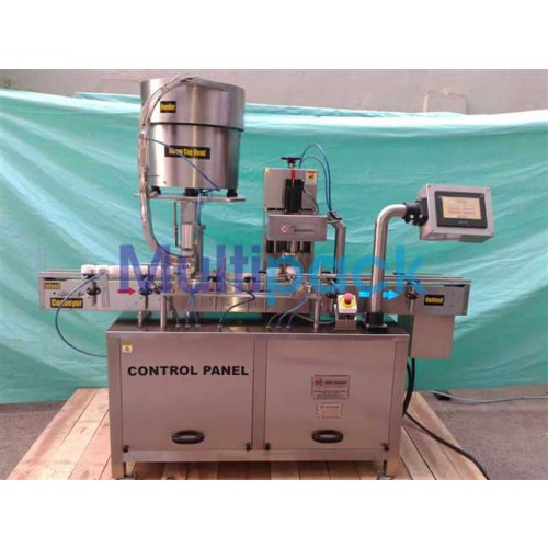 Automatic Single Head Screw Capping Machine